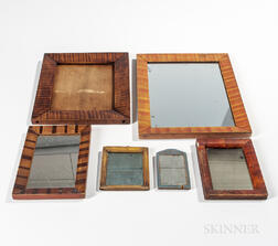 Five Paint-decorated Mirrors and a Frame
