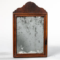 Early Mahogany Veneer Mirror