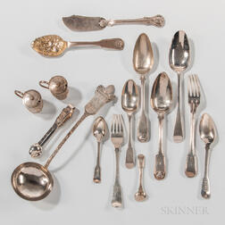 Group of Chinese Export Silver Tableware