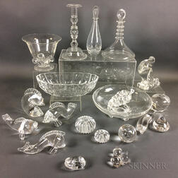 Twenty-two Pieces of Steuben Crystal