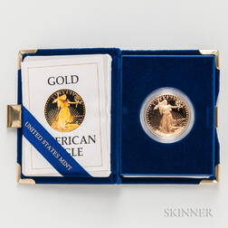 1986 $50 American Gold Eagle Proof.