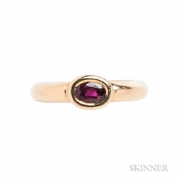 18kt Gold and Ruby Ring, Chaumet