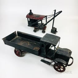 Two Vintage Tin-painted Toys