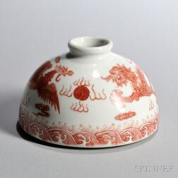 Small Enameled White Porcelain Water Coupe