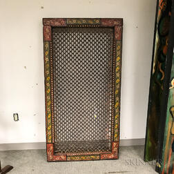 Large Paint-decorated Indian Surround.     Estimate $300-500