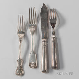 Fifty-six Pieces of Assorted Silver Flatware