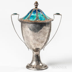 Mildred Watkins Sterling Silver and Enamel Cup and Cover