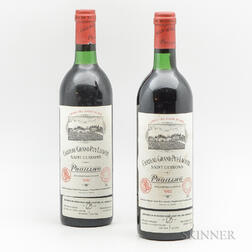 Chateau Grand Puy Lacoste 1982, 2 bottles