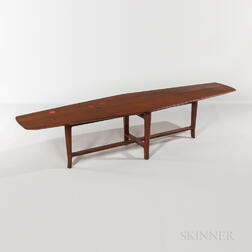 Edward Wormley for Dunbar Cocktail Table with Natzler Tile