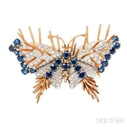 Sapphire and Diamond Butterfly Brooch, Schlumberger Studios, Tiffany & Co.