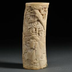 Ivory Tusk Carving of Women