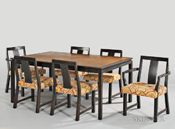 Edward Wormley for Dunbar Dining Table and Six Chairs