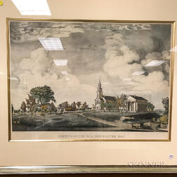 Three Framed Engravings of Boston