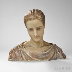 Augustus Saint-Gaudens (American, 1848-1907)      Wax Bust of Louise Adele Dickerson Gould