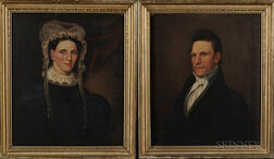 William Matthew Prior (Massachusetts, Maine, 1806-1873)      Portraits of the Honorable Rufus Soule and Susan Mitchell Soule