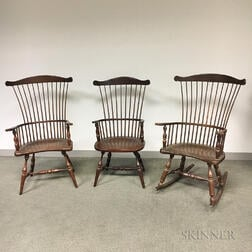 Three Reproduction Windsor Armchairs