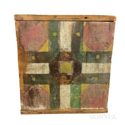 Primitive Painted Pine Parcheesi Game Board