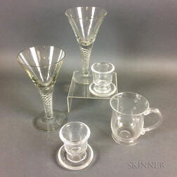 Seven Pieces of Steuben Crystal