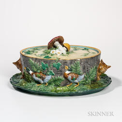 Minton Majolica Game Pie Tureen and Cover