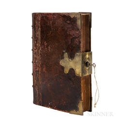 Hacket, John (1592-1670) A Century of Sermons  , Family Copy with a Brass Lock & Key.