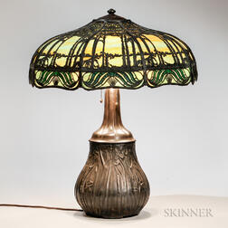 Handel Metal Overlay Table Lamp