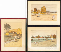 Three 1930s Golfing Prints