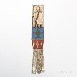 Sioux Beaded and Quilled Hide Pipe Bag