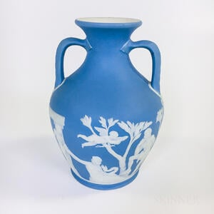 Wedgwood Light Blue Jasper Portland Vase