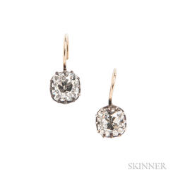 Diamond Earpendants