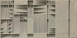 """Anton B. Vizy (American, 1937-2016)      Two Wall Constructions: The Seven Last Words on the Cross   and Studie for """"Little Cross."""""""