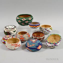 Ten Beaded Baskets