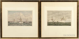 Cozzens, Frederic Schiller (1846-1928) Steamships, Six Chromolithographs.