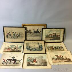 Nine Humphrey and Currier & Ives Satirical Works