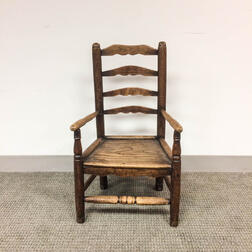 Early Turned Plank-seat Child's Chair