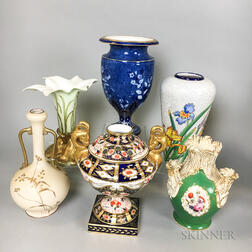 Six Ceramic Vases