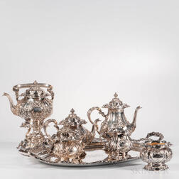 Seven-piece Gorham Sterling Silver Tea and Coffee Service