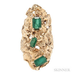 14kt Gold and Emerald Ring