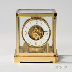 Jaeger Le Coultre Atmos Brass-mounted Mantel Clock
