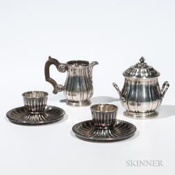 Four Pieces of French .950 Silver Tableware