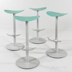 Four Brayton International Bar Stools