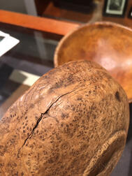 Two Turned Burl Bowls
