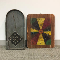 Two Polychrome Wood Game Boards
