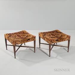 Pair of Edward Wormley for Dunbar Ottomans