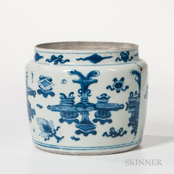 Blue and White Water Jar