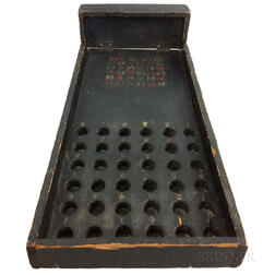 Black-painted Pine Carnival Game
