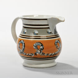 Slip- and Cable-decorated Pearlware Pitcher