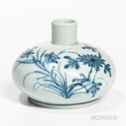 Blue and White Oil Bottle