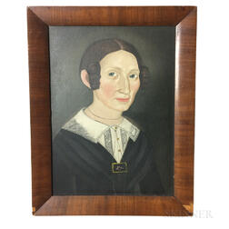 Framed Prior School Oil on Board Portrait of a Woman