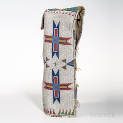 Plains Hide Beaded Cradle