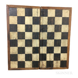 Small Painted Pine Folding Checkerboard